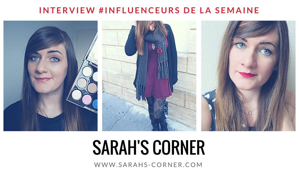 Sarah's Corner influenceur mode beauté