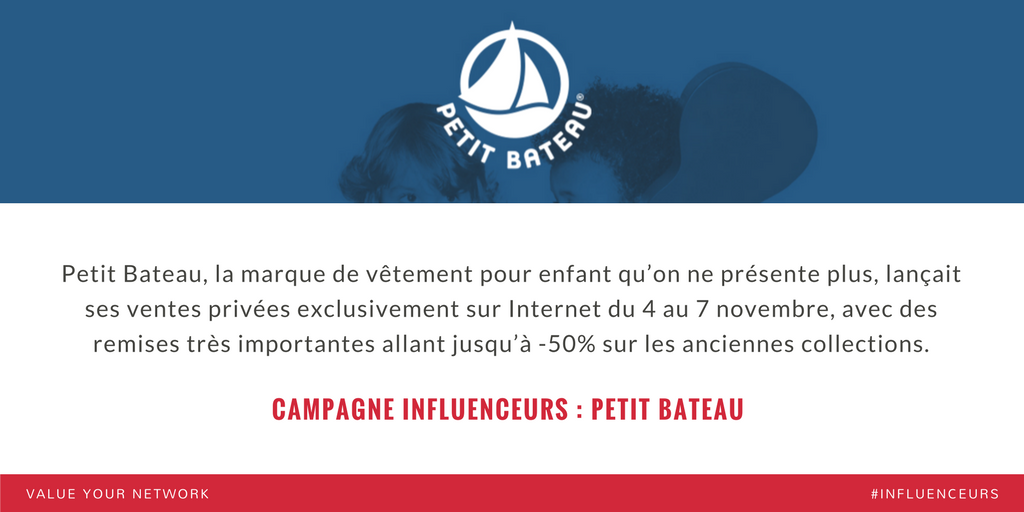 Campagne marketing influenceurs : Petit Bateau