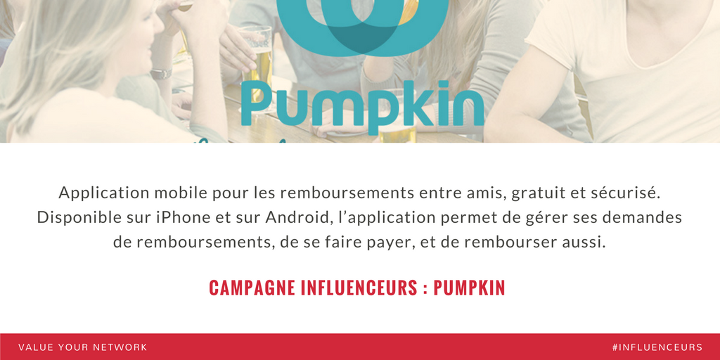Campagne marketing influenceurs : Pumpkin