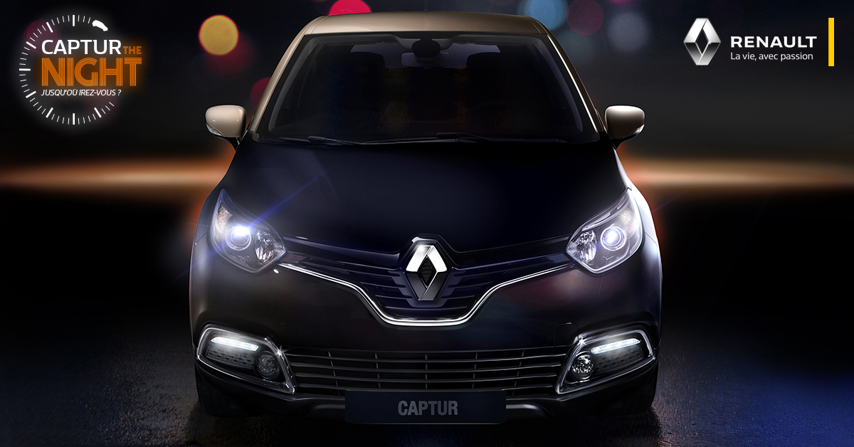 Campagne influenceurs Renault Captur the night