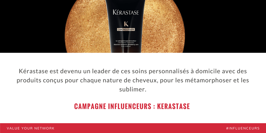 Campagne marketing influenceurs : Kerastase