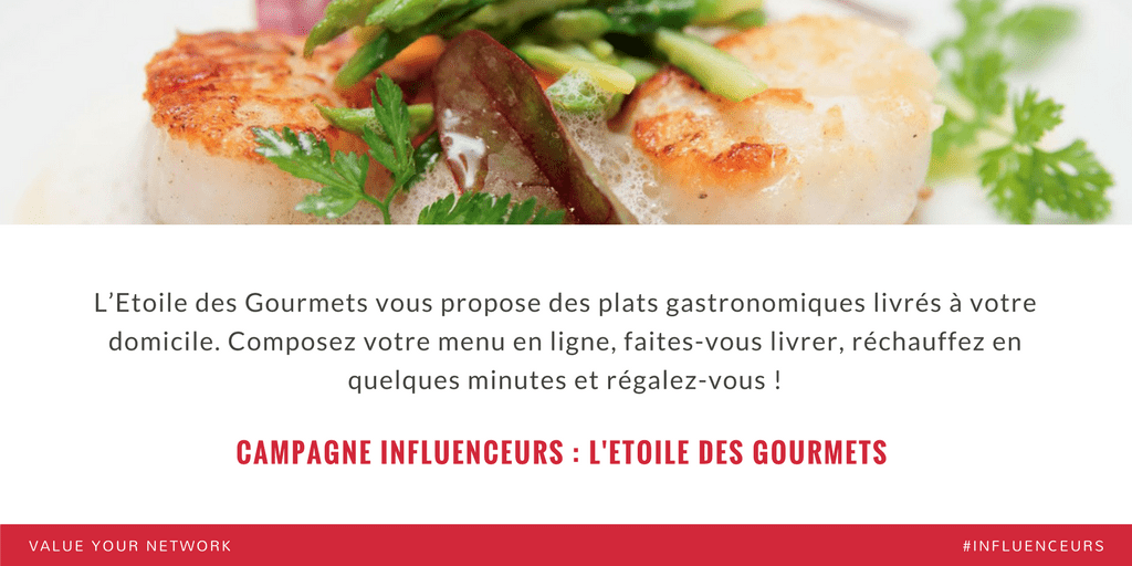 Campagne marketing influenceurs : L'Etoile des gourmets