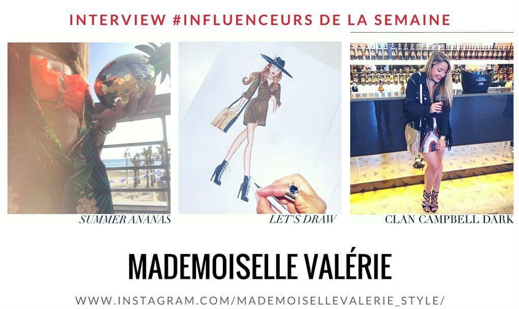 """Découvrez notre influenceuse de la semaine : la blogueuse """"Mademoiselle Valérie"""""""