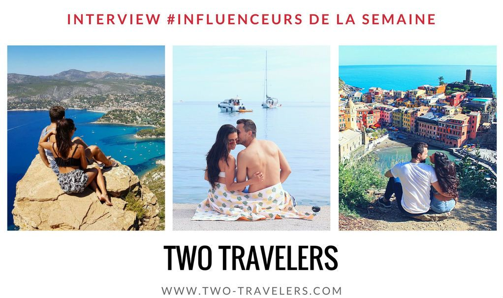 Two travelers influenceurs blogueurs voyage