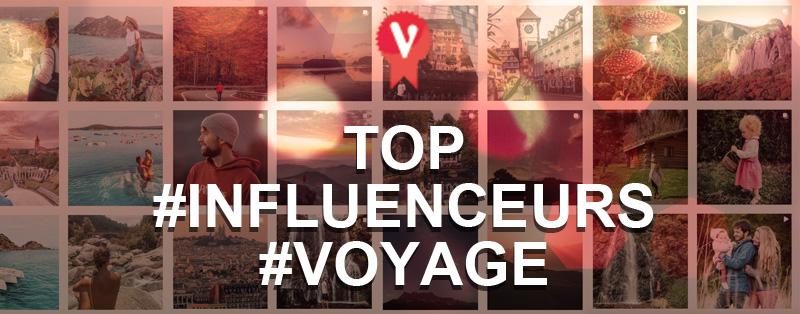 Top 10 influenceurs Voyage instagram France