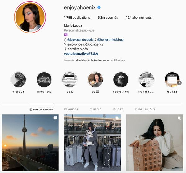 enjoyphoenix top influenceurs france